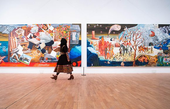 The re-opening of the London art world