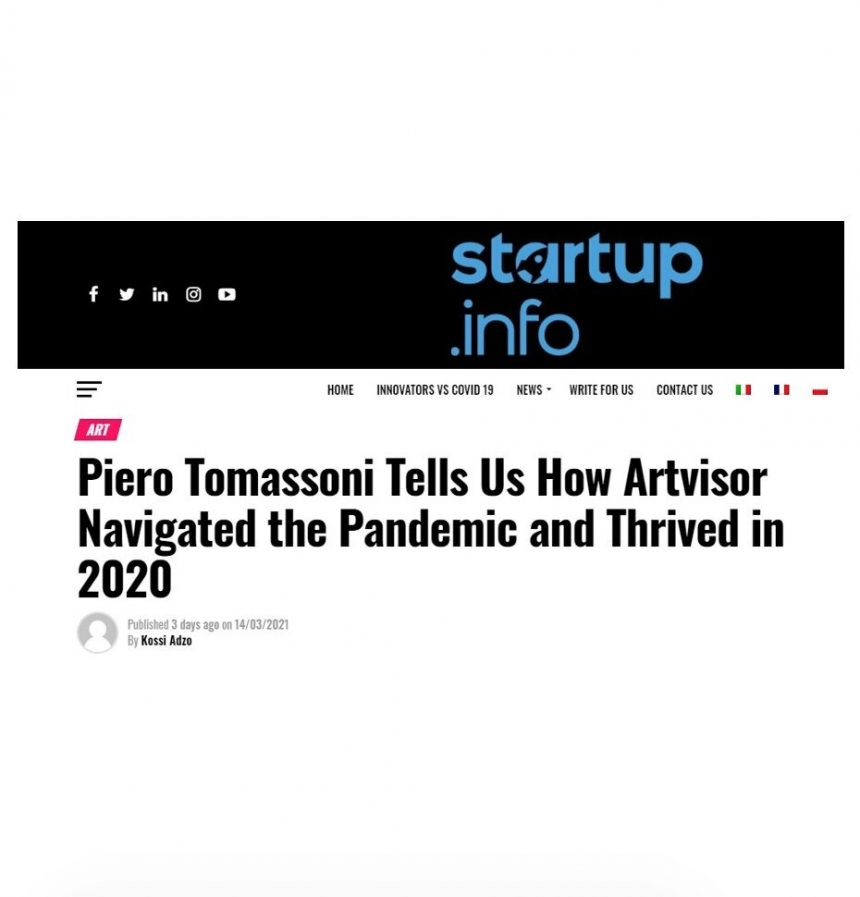 Artvisor's Founder Piero Tomassoni talks with Startup Info about how his business thrived in 2020